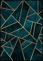 Deep Teal Stone Poster