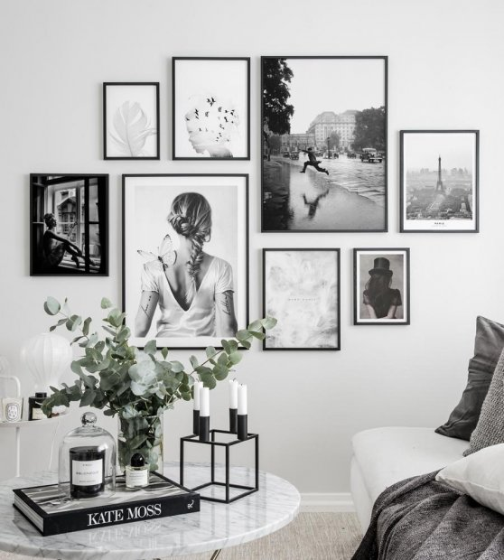 Gallery wall beautiful photo art