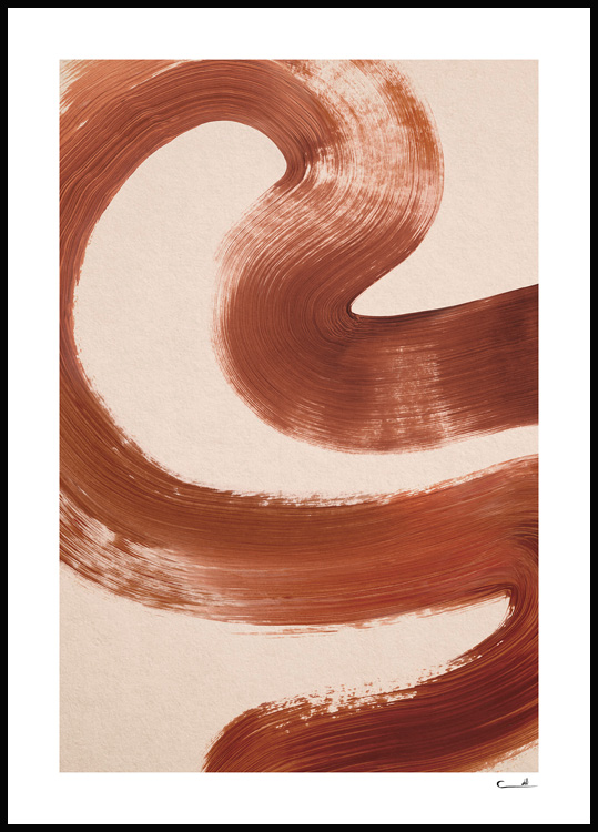 Abstract Brush No2 Poster