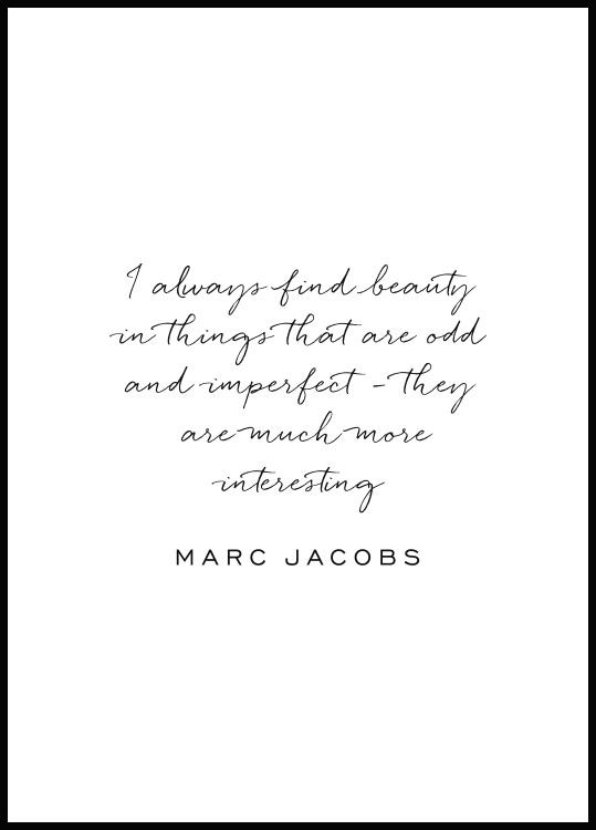 Poster Marc Jacobs