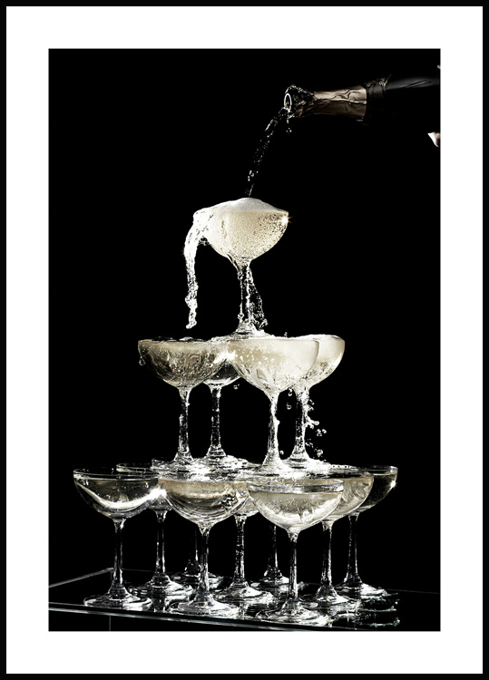 Champagne Fontana Poster