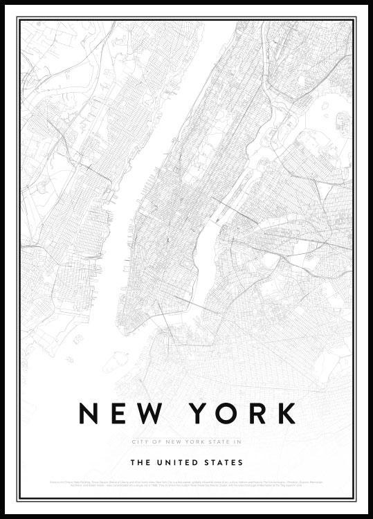 Mappa di New York Poster