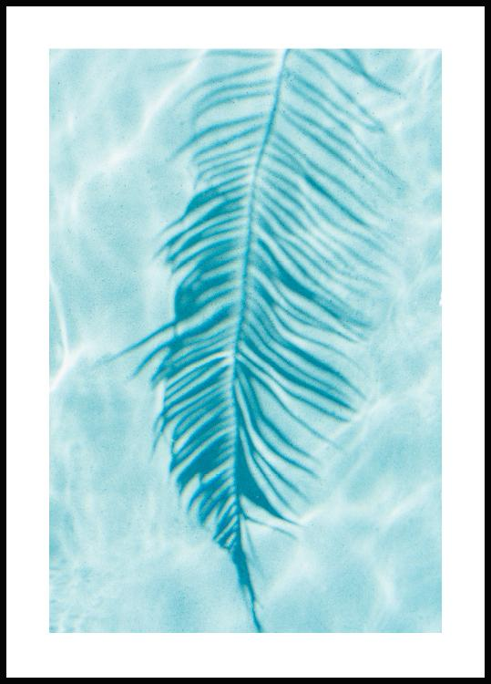 Palm Leaf Reflection Poster
