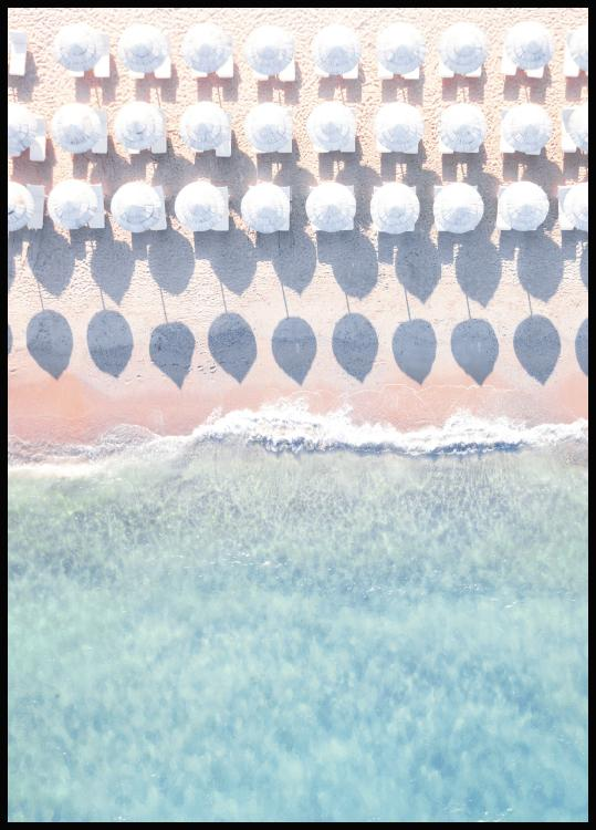 Beach Umbrellas Poster