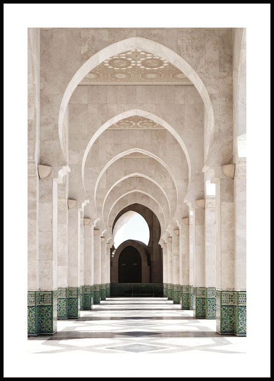 Marrakech Arches Poster
